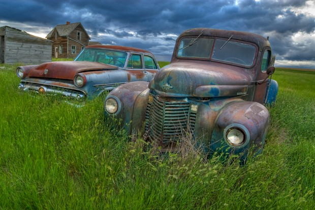 Old Vehicles left in the field
