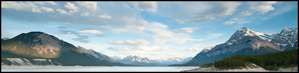 Evening Light Abraham Lake