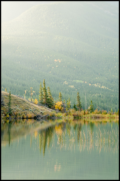 Calm waters of Talbot Lake - Nikon D700, 70-300mm f/4.5-5.6 ©Leslie Degner