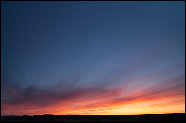 Immense sky at the end of the day, Grasslands National Park
