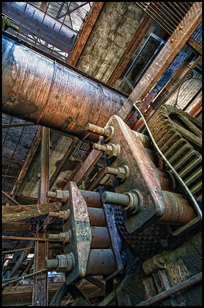 Inside the Briquette Processing Plant at the Brazeau Collieries, Nikon D300, Nikkor 12-24mm f4.0 ©Leslie Degner