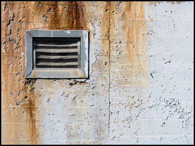 Vent and stains, Olympus OMD E-M5, Olympus 12-50mm f3.5-6.3 ©Leslie Degner