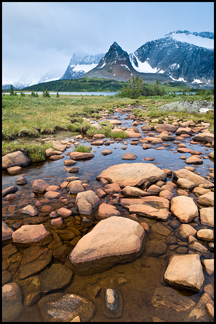 Mountain creek in the Tonquin Valley, Nikon D700, Nikon 24mm f/3.5, ©Mark Degner