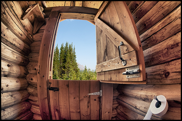 View from the outhouse, Tonquin Valley, Nikon D700, Sigma 15mm f/2.8, ©Leslie Degner