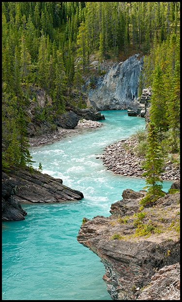 Turquoise blue water of the Cline River, Nikon D300, Nikon 24-70mm f2.8 lens