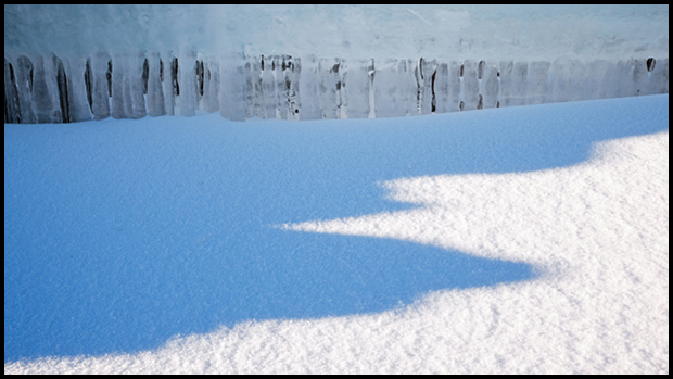 Ice curtain and shadows, ©Alan Ernst