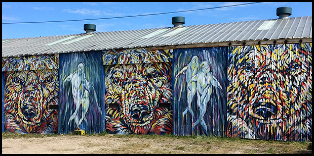 Bear and Beluga Mural in Churchill, Manitoba