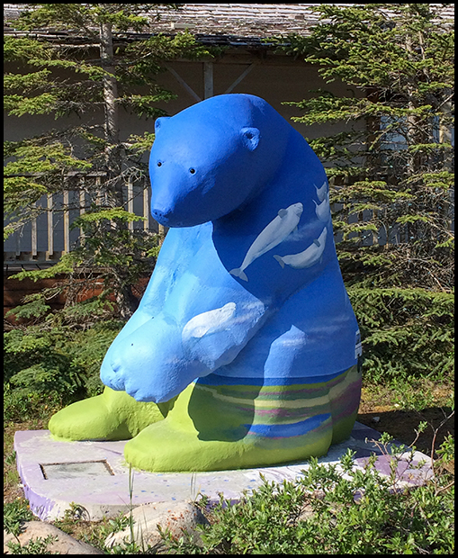 Bear Sculpture in Churchill, Manitoba