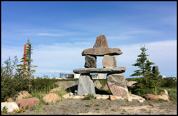 An Inukshuk in Churchill, Manitoba