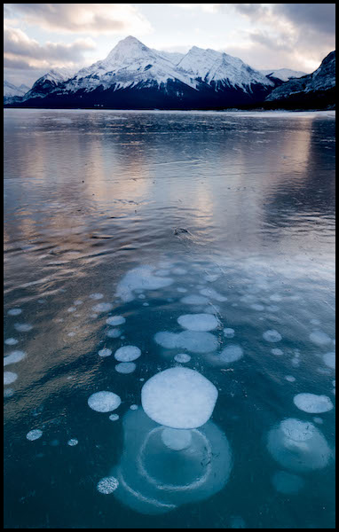 Methane Bubbles and Elliott Peak